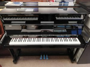 Ritmuller upright piano R118 (Black) LL Pianos 01923 820 470